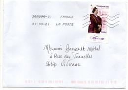 """2021--tp   """" Madeleine  Brès   """"    .........seul Sur Lettre - 1961-...."""