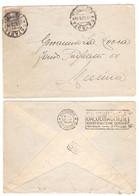 "WQ342   Messina 1928  Annullo A Targhetta ""SALSOMAGGIORE TERME BERZIERI"" Su Lettera Affrancata 50c Vitt.Emanuele III - Marcophilie"