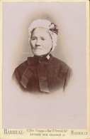 CABINET - Portrait D'une Dame Avec Coiffe Par BARRIAL à Marseille  (BP) - Old (before 1900)