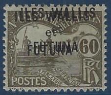 France Wallis & Futuna N°7a (  ) Sans Gomme Double Surcharge TTB Signé Calves - Postage Due