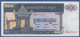 CAMBODIA - P.12b –  100 Riels ND (1963-1972)  UNC - Cambogia