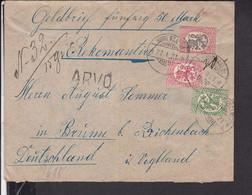 Brief Finnland Stempel Kirvensalmi Nach Reichenbach ( Vogtland ) 1921 - Briefe U. Dokumente