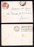 """WQ343    Messina 1927  Annullo A Targhetta """"VISITATE TRIPOLI E LA ESPOSIZIONE..."""" Su Lettera Michetti 60c Isolato - Marcophilia"""