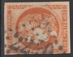 N°48, 40c Orange Oblitéré GC 2240 - 1870 Ausgabe Bordeaux