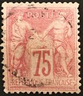 YT 81 CaD SAGE (type II) 75 C Rose (1885) (côte 150 Euros) France – B2otti - 1876-1898 Sage (Type II)