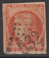 N°48, 40c Orange Oblitéré GC 532 - 1870 Ausgabe Bordeaux