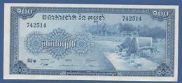 CAMBODIA - P.13b –  100 Riels ND (1956-1972) UNC- - Cambogia