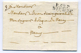 P52P DIEUZE / Dept De La Meurthe / 1826 / Côte 130€ - 1801-1848: Voorlopers XIX