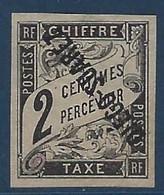 France Colonies Diego Suarez Taxe N°4a (  ) Neuf Sans Gomme Surcharge Renversée Superbe !! Signé Calves - Unused Stamps