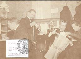 FINLANDE FINLAND SUOMI - Année 1982 -Timbre De Distributeur N° 1 Yvert Sur Carte Postale Bureau Uusikyiä - Cor Postal - Briefe U. Dokumente