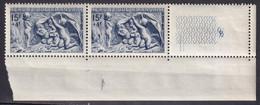 """FRANCE - Hiver De 1949 """"à La Bûche"""" Tenant à Normal Neuf TTB - Varieteiten: 1945-49 Postfris"""