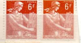 FRANCE N° 1115 6F MARRON TYPE MOISSONNEUSE 2 NUANCES  NEUF SANS CHARNIERE - Curiosities: 1950-59 Mint/hinged