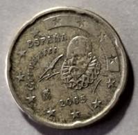 2005 - SPAGNA - MONETA IN EURO - DEL VALORE DI 20 CENTESIMI -  USATA - Spanien