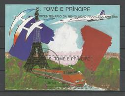 St Tome E Principe 1989 French Revolution S/S Y.T. BF 67 (0) - Sao Tome And Principe