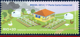 Ref. BR-3218B BRAZIL 2012 ENVIRONMENT, RIO+20, UNITED NATIONS,, RAIN WATER UPTAKE, FARM, BIRDS, MNH 1V Sc# 3218B - Ducks