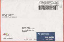 STATI UNITI - UNITED STATES - USA - US - 2003 - 0,80 Pitney Bowes Postage Correction Postage Paid - Medium Envelope - Vi - Covers & Documents