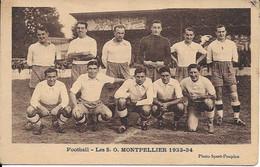 Football Les S.O. Montpellier 1933-34 - Montpellier