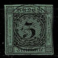 Baden 1851,Michel# 6 O Nicht Angeschnitten - Baden