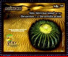 Ref. MX-2523 MEXICO 2006 FLOWERS, PLANTS, INTL.YEAR OF DESERTS AND, DESERTIFICATION, CACTUS, MNH 1V Sc# 2523 - Sukkulenten