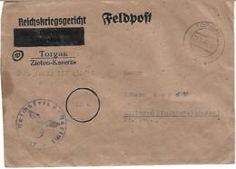 FELDPOST, REICHSKRIEGSGERICHT TORGAU-ZIETEN KASERNE  Za Johann Kerin - Unclassified