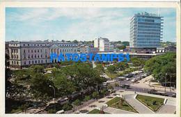 158780 PARAGUAY ASUNCION  PLAZA DE LOS HEROES BANK BANCO DE FOMENTO HOTEL GUARANI POSTAL POSTCARD - Paraguay