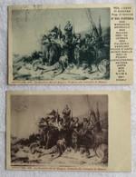 Lot De 2 Cartes -militaire -battaglia Di Novara-746 - Otros