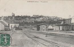 REF.AG2 . CPA . 61 . DOMFRONT . VUE GENERALE DE LA GARE - Domfront