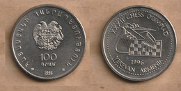 ARMENIA  100 Dram (Chess Olympiad) 1996 Copper-nickel • 10.8 G • ⌀ 29.5 Mm KM# 69, Schön# 20 - Armenia