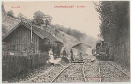 Cpa Haute Marne Chamouilley La Gare - Other Municipalities