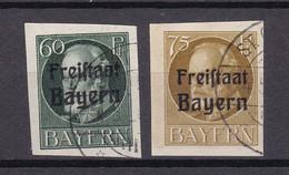 Bayern - 1920 - Michel Nr. 162/163 B - Gestempelt - 63 Euro - Bavaria