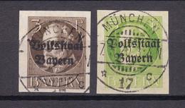 Bayern - 1920 - Michel Nr. 116/117 B - Gestempelt - 48 Euro - Bavaria