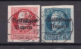 Bayern - 1920 - Michel Nr. 120/121 B - Gestempelt - 48 Euro - Bavaria