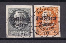Bayern - 1920 - Michel Nr. 122/123 B - Gestempelt - 48 Euro - Bavaria