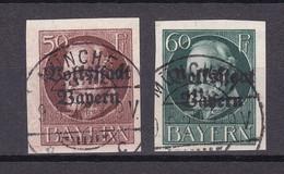 Bayern - 1920 - Michel Nr. 125/126 B - Gestempelt - 48 Euro - Bavaria