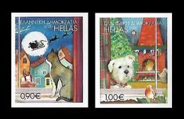 Greece 2020 Mih. 3098/99 Christmas. Fauna. Cat And Dog (self-adhesive) MNH ** - Ungebraucht
