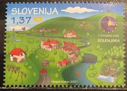Slovenia, 2021, Tourism - Dolenjska (MNH) - Slovenia