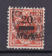 Wuerttemberg - 1922/23 - Dienstmarken - Michel Nr. 162 - Geprüft - Gestempelt - Wurttemberg