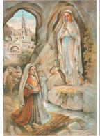Grande CPM 65 Lourdes - Apparition De La Vierge à Bernadette Soubirous Par Legay Ou Legai TBE - Saints