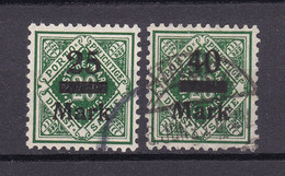 Wuerttemberg - 1922/23 - Dienstmarken - Michel Nr. 163/164 - Gestempelt - Wurttemberg
