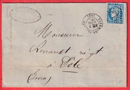 N°46B GC 1053 CLERMONT FERRAND PUY DE DOME DOLE JURA SUPERBE FACTURE PATES MAGNIN - 1849-1876: Klassik