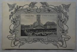 Carte Fantaisie Art Nouveau - Longwy-Haut, La Place, Le Marché - Longwy