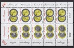 MONACO 2002 - FEUILLE DE 10 TP N° 2358 / 2359  - NEUFS** B89 - Bloques