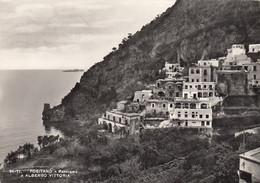 POSITANO-SALERNO-PANORAMA=ALBERGO VITTORIA=-CARTOLINA VERA FOTOGRAFIA-VIAGGIATA IL 21-10-1963 - Salerno