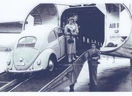 Deux Femmes Chargant Leur VW Coccinelle Dans Un Avion Cargo Bristol 170 De Sabena Air -  15x10cms PHOTO - Turismo
