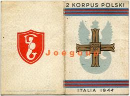 Military Card Commemorative Memorial Cross 2nd Corps Polish Army Monte Cassino Italia 1945 - Documents