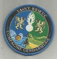 Militaria , Compagnie De Gendarmerie  , écusson Tissu , Scratch , SAINT BRIEUC, 2 Scans - Escudos En Tela