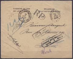 "L. ""CHEMINS DE FER DE L'ETAT BELGE"" RP (recommandé Postal) Càd Oval ""BRUXELLES-BRUSSEL /24/12/1926/I"" Pour E/V [NON-RECL - 1923-1941"