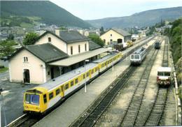 "Gare De Mende (48) Autorail X2729 ""R.G.P.1""X2103 Et Fdraisine 6 M 006 RV - Mende"