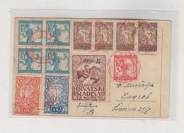 CROATIA.SLOVENIA SHS ZAGREB 1920 Nice Postcard Poster Stamp - Croatia