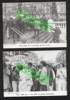 Défilé 1er Mai à Paris 1979 / 2 Cartes / Groupe Homosexuel Violence CRS Manifestation France - Labor Unions